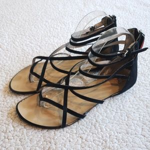Joe's | Black | Gladiator | Strappy | Sandals